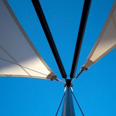 Tensile structure at entrance to a new cafe for the students at Exeter College.
