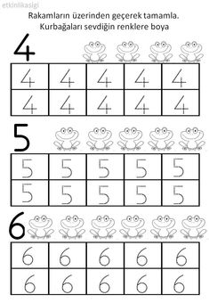 Reading Activities And Coloring Pages - Preschool - Coloring Pages Numbers Kindergarten, Numbers Preschool, Kindergarten First Day, Preschool Printables, Kindergarten Worksheets, Math Activities, Preschool Activities, Math Numbers, Preschool Education