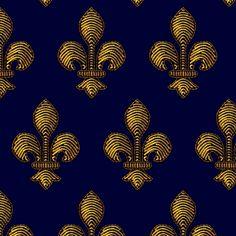 Marie de Medici's Fleur de Lis fabric by bonnie_phantasm on Spoonflower - custom fabric