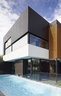 World of Architecture: Dark Contemporary Home by Steve Domoney Architecture