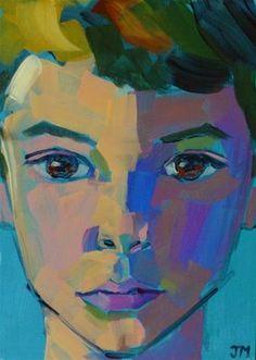 "Daily+Paintworks+-+""Half-Hour+Portrait""+-+Original+Fine+Art+for+Sale+-+©+Jessica+Miller"