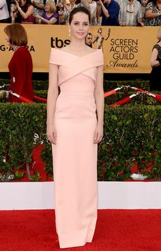 Felicity Jones SAG Awards Balenciaga