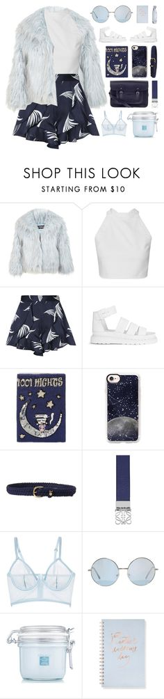 """We Don't Talk Anymore.."" by vip-beauty ❤ liked on Polyvore featuring Miss Selfridge, C/MEO COLLECTIVE, Dr. Martens, MUA MUA, The Cambridge Satchel Company, Casetify, Lauren Ralph Lauren, Loewe, La Perla and Fringe"