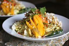 The dressing alone is amazing.  Thai Crunch Salad.