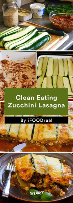 6. Clean Eating Zucchini Lasagna #healthy #dinner #recipes greatist.com/...