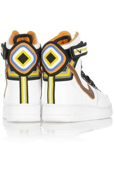 Nike | + Riccardo Tisci Air Force 1 leather hi-top sneakers | NET-A-PORTER.COM