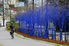 The Blue Trees by Konstantin Dimopoulos, is a social art action. He paints trees with a 'biologically safe pigmented water' to make a statement about how important trees are to our survival. The color will naturally degrade over a period of months. Seattle's trees turned color on April 2nd, 2012, and will likely remain that way through the summer. Through colour I am making a personal statement about the spirituality of trees and their importance to our very survival: trees are the lungs of…