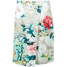 ANTONIO MARRAS floral skirt ❤ liked on Polyvore