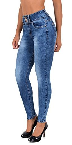 7b118fed4db1 by-tex Jean Femme Skinny Pantalon Taille Haute ou Taille Basse Femmes  Stretch Jeans