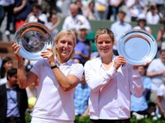 6/8/14 Men have Under 45 legends, but ladies are all combined. Former #1s Martina Navratilova & Kim Clijsters won their division at Roland Garros.