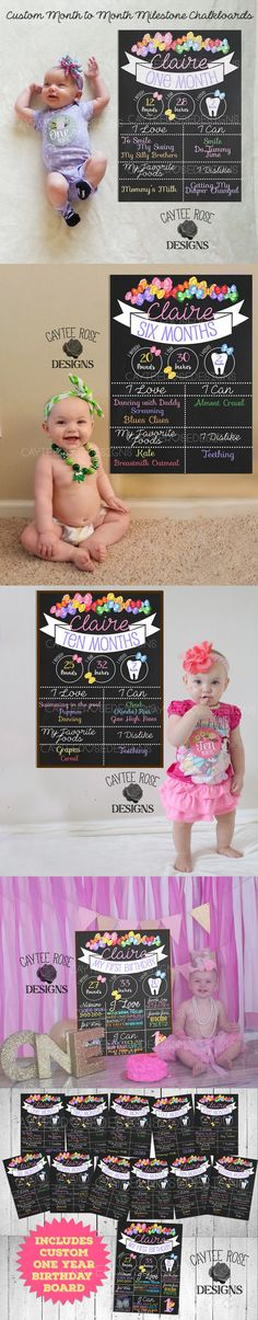 With this package I can create a custom monthly milestone chalkboards PLUS a birthday board that you can either print yourself, using a photo lab / your own printer or I can photoshop the board into any picture you have of your little one holding or standing next to any picture frame. - Looking for a different design? I can custom make whatever you like, feel free to contact me with your idea and I'll be happy to work with you!