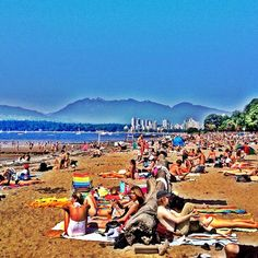 "See 2006 photos and 74 tips from 6448 visitors to Kitsilano Beach. ""Just a short walk away from Granville Island. Perfect beach to bring your two. Vancouver Beach, North Vancouver, Best Places To Travel, Places To Go, Beautiful Sites, You're Beautiful, All About Canada, Pacific West, Seymour"