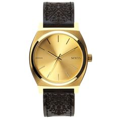Nixon Mens Nixon The Time Teller Watch - Gold Ornate Pacific Station Collection: Each watch dial will be unique and vary slightly in colour