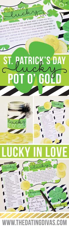 This is such a fun way to celebrate St. Patrick's Day with your spouse!! I am totally doing this!