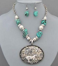 Country Girl Fashions, LLC - Western Theme Pendant Necklace , $14.99 (http://www.countrygirlfashionsonline.com/products/western-theme-pendant-necklace.html)