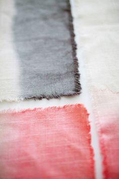 Easy DIY dip-dye ombre placemats (via @Liz Stanley )