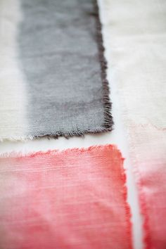 Easy DIY dip-dye ombre placemats