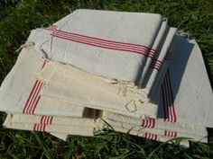 Antique 1900's Off White Linen French Kitchen by SophieLadyDeParis