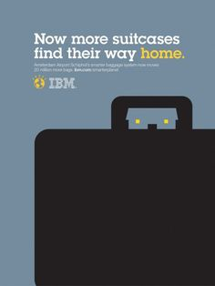 Now more suitcases find their way home. Amsterdam Airport Schiphol's smarter baggage system now moves 20 million more bags. ibm.com/smarterplanet