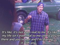 gilmore girls - one of the best quotes (I had forgotten about this quote, I haven't watched this episode in ages, it makes me cry, actually I don't watch much of the 7th season at all) AWW LUKE!!!