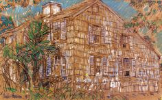 The Athenaeum - Home Sweet Home Cottage (Frederick Childe Hassam - )
