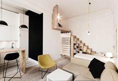 24mq apartment by Studio 3XA - Wroclaw, Polska
