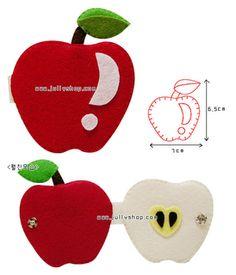 manzana fieltro / felt apple