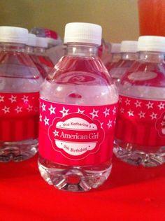 american girl, water bottle label, printable, birthday, printables   The White Eg - available on The White EG shop: www.thewhiteeg.com