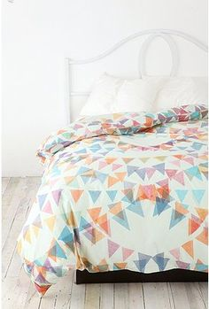 Ditsy Pennants Duvet Cover from Urban Outfitters   AVAILABLE at OOH LA LOFT for a FULL    $48                      www.oohlaloft.com (707)769-7787