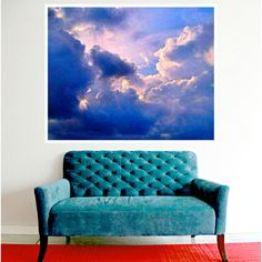 Clouds Sky Painting Poster Instant Digital Download Art Print Mixed... ($5) ❤ liked on Polyvore featuring home, home decor, wall art, mixed media wall art, modern home accessories, modern home decor, mixed media painting and cloud wall art