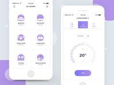 Smart Home App by Saepul Rohman on Dribbble Web Design, App Ui Design, Interface Design, User Interface, Mobile App Design, Mobile App Ui, Application Design, Mobile Application, Sports App