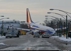 Southwest Airlines Boeing 737-7H4 Flight 1248 veered off the runway at Chicago Midway Airport (Illinois) at approximately 19:15 pm (CST) 8.12.2005, onto Central & 55th Ave. Airliner slid thru fence onto intersetion. 11 people injured & a 6 yr old boy killed.