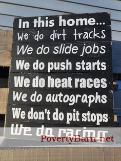 We Do Racing Reclaimed Pallet Wood Art Piece by PovertyBarn, $30.00