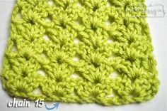 Cluster V-Stitch Scarf - one skein free pattern