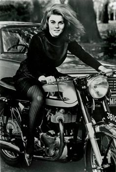 Ann Margret on a Norton Atlas--this is the fourth or fifth photo of her on a different bike--she's the real deal.