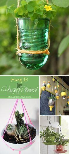 Hang It! • DIY Hanging Planters • Ideas  Tutorials!