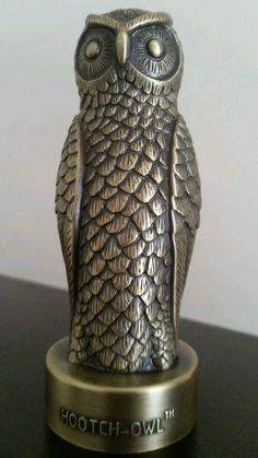 "Hootch Owl bottle opener Cast iron 4"" tall Antique bronze finish*Rare* Very Cool"