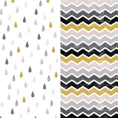Download and print these FREE Capsule Geometric Mono teardrop and chevron papers.
