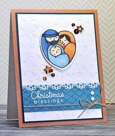 Christmas Blessings from Joyful Creations with Kim. Stamps and dies by Paper Smooches.  Sketch is from Freshly Made Sketches.