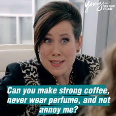 Legitimate question for a Monday morning, don't you think? Watch Miriam Shor in the next episode of Younger. 10/9 C on TV Land. Click to watch an episode.