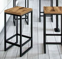 Steel Furniture, Modern Kitchen Design, Welding, Home Projects, Bar Stools, Loft, Chair, Table, Home Decor