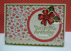 HAPPY HEART CARDS: STAMPIN' UP! BIRTHDAY BLOSSOMS, PRETTY PETALS CARD #4