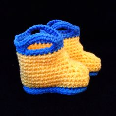 Baby Rainboot Chic by busyhermits on Etsy Handmade Baby Items, Handmade Gifts, Crochet For Kids, Knit Crochet, Rain Boots, Beanie, Knitting, Chic, Trending Outfits