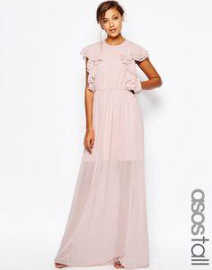 ASOS+TALL+Ruffle+Front+Maxi+Dress