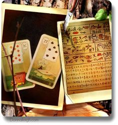 Lenormand cards are read like Pictographs, not tarot cards.