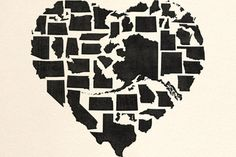 Creative heart made of all the US states really gets you pumped to go explore the US on a road trip :)