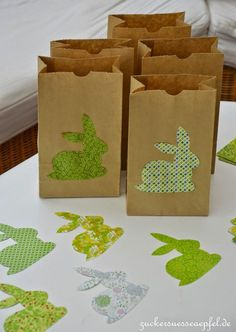 ♥ Zuckersüße Äpfel ♥: Ostern in der Tüte...(DIY) easter bag easy diy