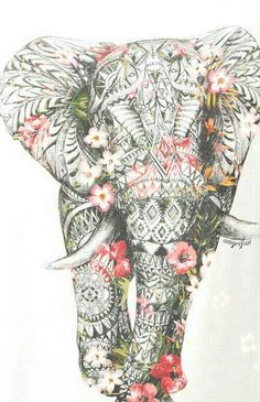 Wow..elephant. mandalas.doodles.zentangles