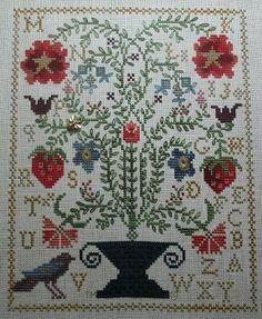 Strawberry Garden by Blackbird Designs | Cross Stitch