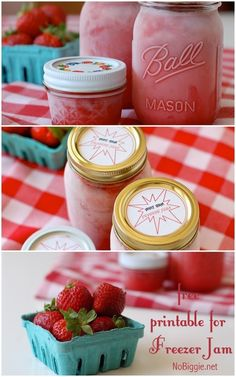 Free printable for your freezer jam labels